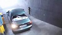 Otopark bariyeri inatçı sürücünün kabusu oldu