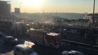Metrobüs yandı; Seferler aksıyor