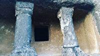Ordu'da antik Roma döneminden kalma 2000 yıllık kaya mezar ilgi bekliyor