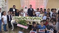 Düğünlerinde takı istemediler yetimleri davet ettiler