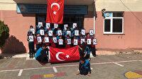 """Köy okulundan Mehmetçik'e """"Bayrak"""" şiiriyle destek"""