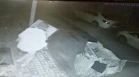 Rögar kapağını çalan adam güvenlik kamerasında