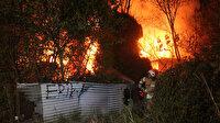 Sarıyer'de hurdalıkta çıkan yangın paniğe neden oldu