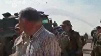 Rus askerleri Ayn El Arab'da peçlerini sökmüş PYD'li teröristler görüntülendi