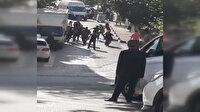 Ataşehir'de aileler arasında kemerli kavga kamerada
