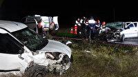 Hatalı sollama felaket getirdi: Kafa kafaya çarpışan araçlardaki 1 kişi öldü