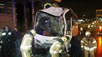 Polislerimizi taşıyan midibüs kaza yaptı: 3 polisimiz ağır yaralı