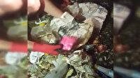 2 ton çöpün içinde 1 saat boyunca parasını aradı