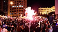 Lübnan'daki gösterilere 'Diriliş Ertuğrul' müziği damga vurdu