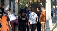 Karşıdan karşıya geçen kıza çarpan ehliyetsiz sürücü ve arkadaşlarının yaptıkları pes dedirtti