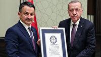 'En fazla fidan dikme rekoru' belgesi Cumhurbaşkanı Erdoğan'a takdim edildi