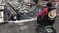 Küçükçekmece Beşyol metrobüs durağında şaşırtan görüntü: Asansör var girişi yok
