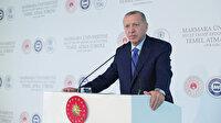 Cumhurbaşkanı Erdoğan'dan Macron'a sert tepki: Önce sen kendi beyin ölümünü bir kontrol ettir!