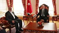 Cumhurbaşkanı Erdoğan, Dolmabahçe'de İsmail Heniyye'yi kabul etti