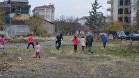 Çocuklar en doğal haklarını talep ediyor: Oyun parkı
