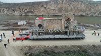 609 yıllık Er- Rızk Camii'nin ana gövdesi yeni yerine taşındı