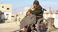 İdlib'deki bombardımandan tekerlekli sandalyesiyle kaçtı: 35 kediden sadece birini yanına alabildi