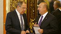 Dışişleri Bakanı Çavuşoğlu Rus mevkidaşı Lavrov ile telefonda görüştü