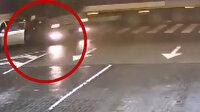 TIR otomobili biçti, sürücü saniyelerle kurtuldu