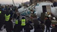 Kazakistan'da yolcu uçağı kalkış sırasında düştü