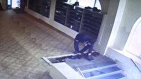 Camide yapılan ayakkabı hırsızlığı güvenlik kamerasında
