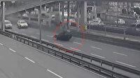 E-5'te makas atarken kaza yapan araç yaklaşık 500 metre sürüklendi
