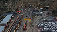 Türkiye'nin en uzun tren tünelinde, ışığın görülmesine 600 metre kaldı