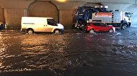 İstanbul'da yağış hayatı olumsuz etkiliyor: Topkapı alt geçidinde su birikintisi oluştu
