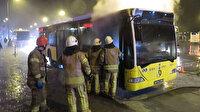 Seyir halindeki otobüste yangın çıktı: Kadıköy'de belediye otobüsü alev alev yandı