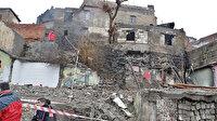 Diyarbakır'da metruk yapı çöktü: 4 kişi yaralandı