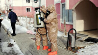 Kimyasal madde ile intihar son anda engellendi: AFAD binayı boşalttı