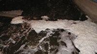 Erzurum'da Oltu Çayı köpürdü: Kimyasal atık şüphesi