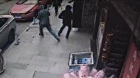 Kuyumcunun camını kıramayan soyguncular koşarak kaçtı