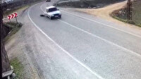 Küçük çocuk viraja hızla giren araçtan düştü
