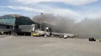Havalimanında yangın çıktı