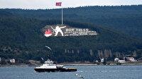 Rus mayın tarama gemisi ve askeri römorkörü Çanakkale Boğazı'ndan geçti