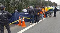 Kocaeli'de otoyol kenarında battaniyeye sarılı ceset bulundu