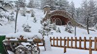 Hobbit köyü karlar altında