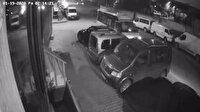 Direksiyonda uyuyakalan minibüs sürücüsü park halindeki araçlara çarptı
