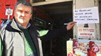 'Robin Hood' İzmit'te ortaya çıktı: Bakkalda veresiye defterini kapattı