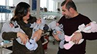 6 yıldır evlat hasreti çeken ailenin sevinci: Dördüz bebekleri oldu
