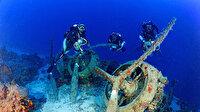 2'nci Dünya Savaşı'ndan kalma: Akdeniz'de 75 metre derinlikte bulundu