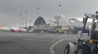 Rüzgar havalimanının çatısını uçurdu