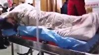 Koronavirüs'lü hastanın kriz geçirdiği anlar kamerada
