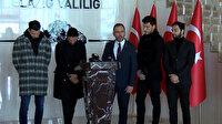 Bakan Kasapoğlu ve futbolcular depremzedelere destek için Elazığ'da