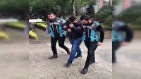 Yol kesip evrak kontrolü yapan taksici gözaltına alındı