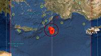 Akdeniz'de 5.5 büyüklüğünde deprem