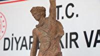 Diyarbakır'da savaşçı figürlü heykel ele geçirildi: Biri muhtar 10 kişi suçüstü yakalandı
