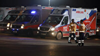 Çin yolcularını alacak ambulanslar havaalanına geldi