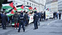 Avusturya'da Trump'ın sözde Orta Doğu barış planı protesto edildi